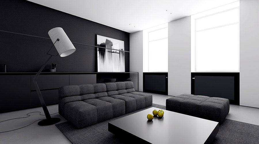 Idee per un arredamento bianco e nero in stile minimal n.06