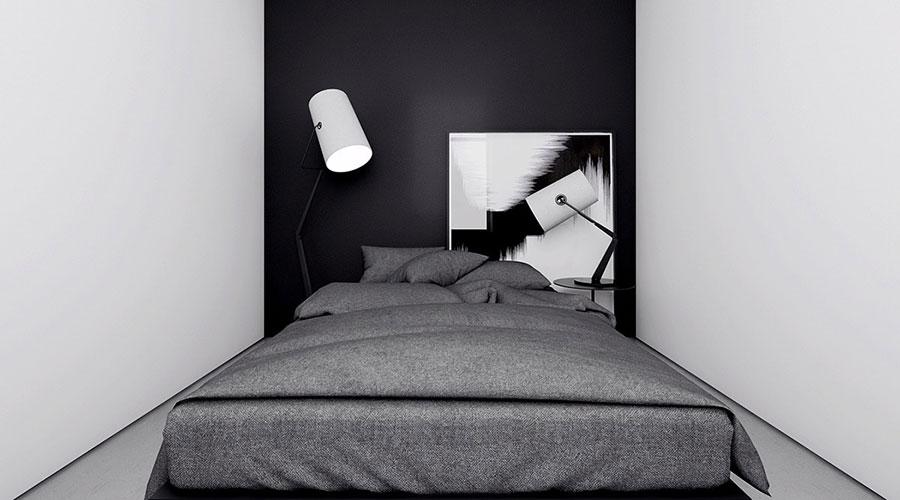 Idee per un arredamento bianco e nero in stile minimal n.08