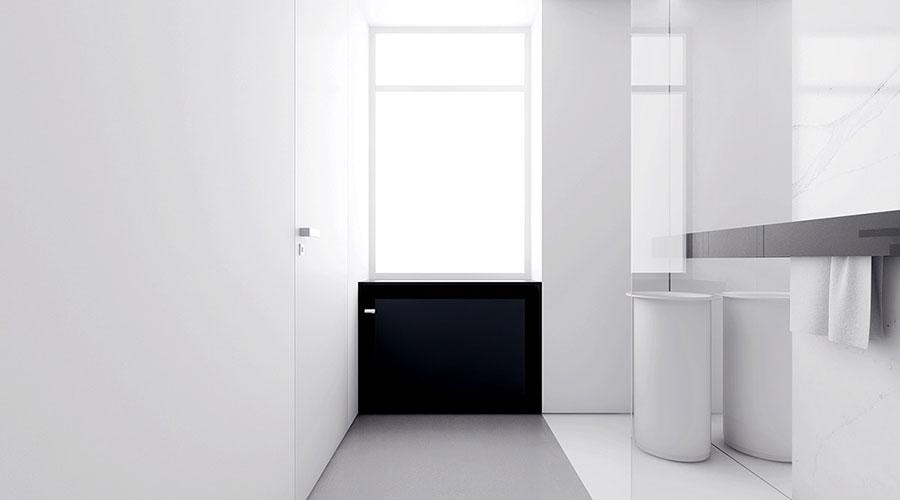 Idee per un arredamento bianco e nero in stile minimal n.09