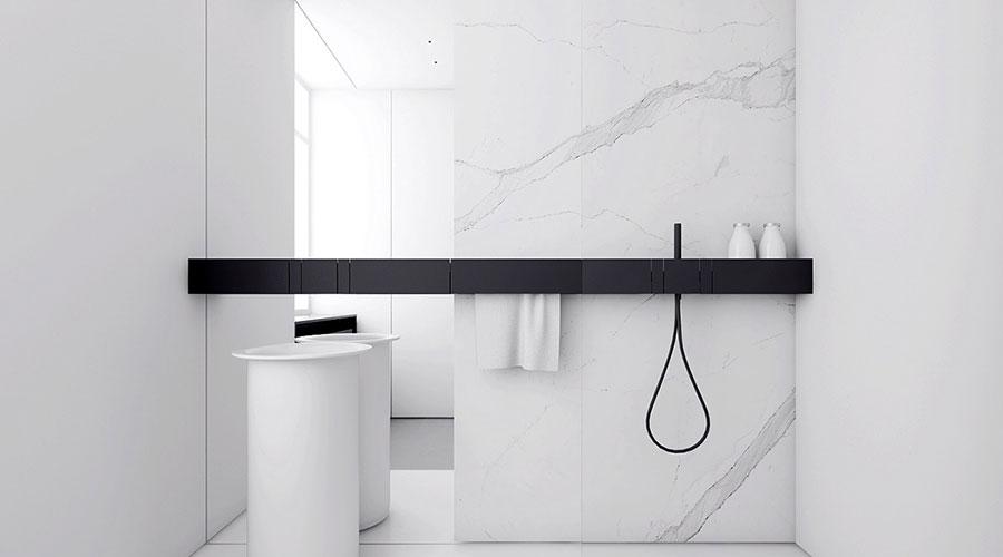 Idee per un arredamento bianco e nero in stile minimal n.10