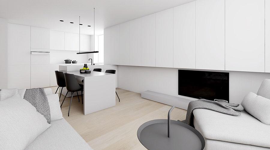 Idee per un arredamento bianco e nero in stile minimal n.12