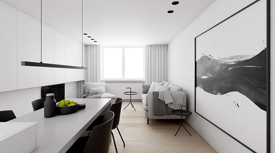 Idee per un arredamento bianco e nero in stile minimal n.13