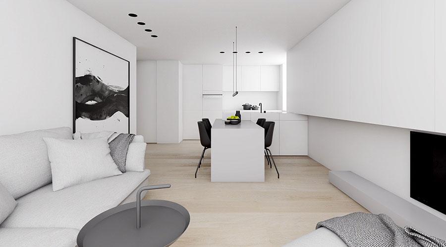 Idee per un arredamento bianco e nero in stile minimal n.14