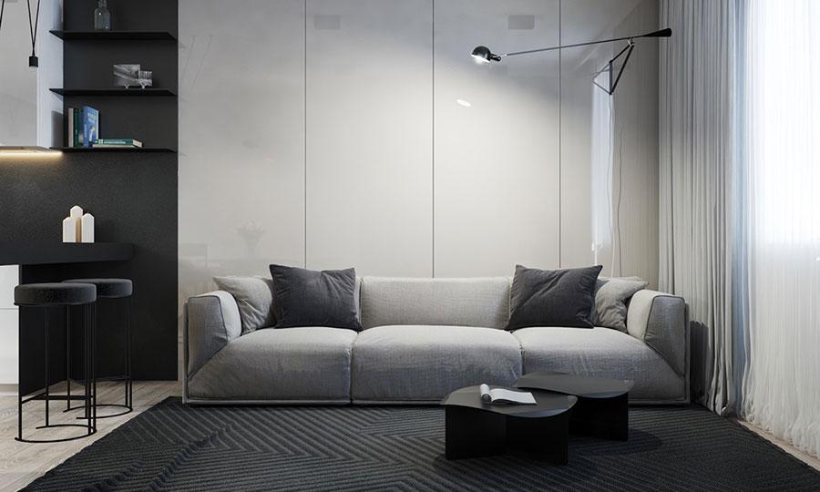 Idee per un arredamento bianco e nero in stile minimal n.17