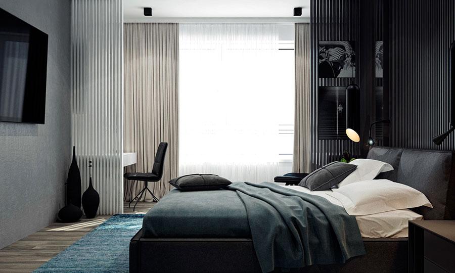 Idee per un arredamento bianco e nero in stile minimal n.22
