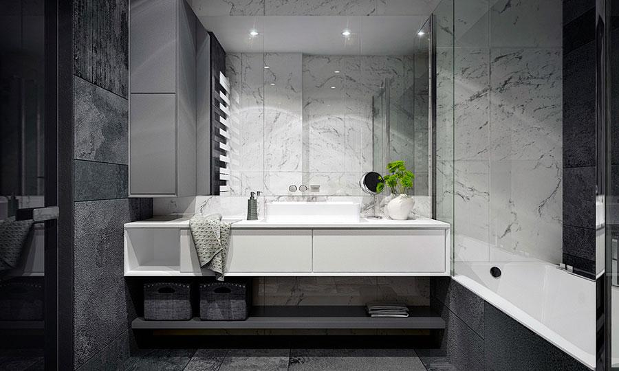 Idee per un arredamento bianco e nero in stile minimal n.23