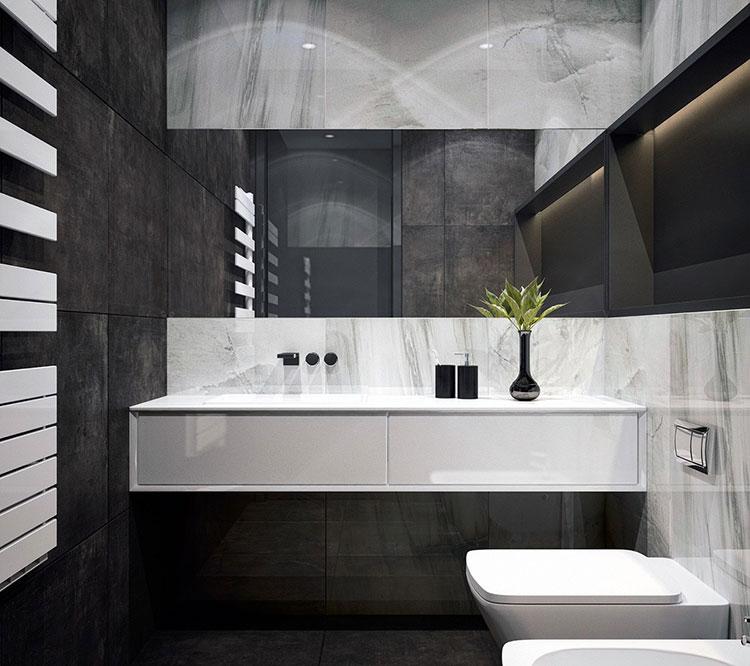 Idee per un arredamento bianco e nero in stile minimal n.24