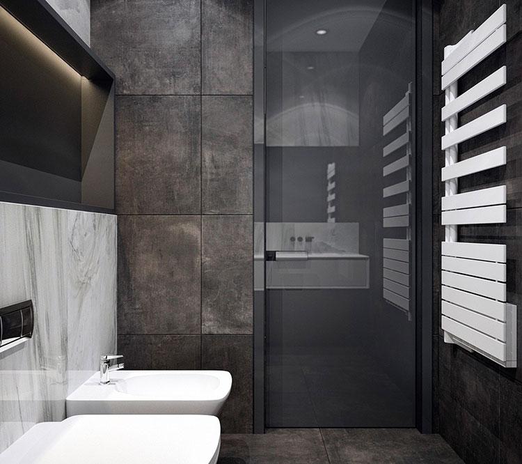 Idee per un arredamento bianco e nero in stile minimal n.25