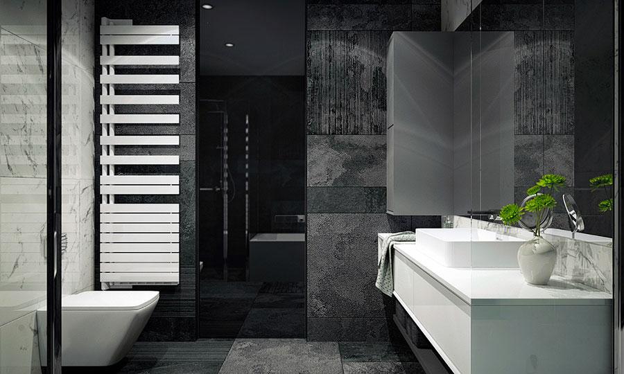 Idee per un arredamento bianco e nero in stile minimal n.26