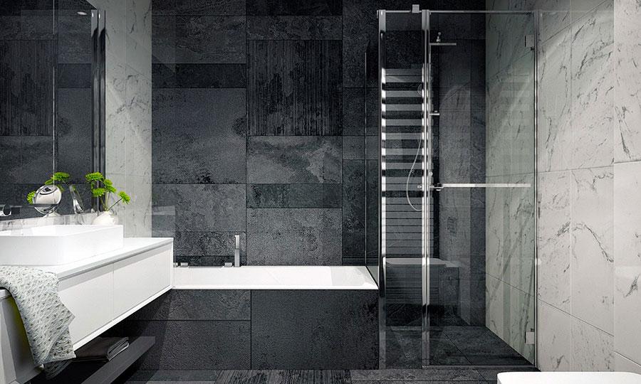 Idee per un arredamento bianco e nero in stile minimal n.27
