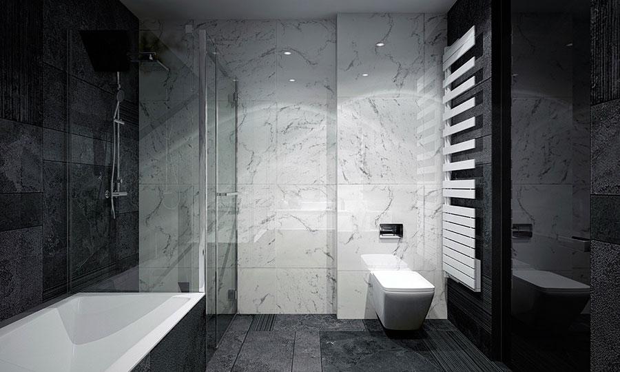Idee per un arredamento bianco e nero in stile minimal n.28