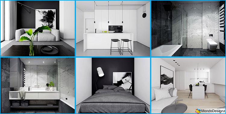 Arredamento Bianco e Nero: ecco 4 Progetti in Stile Minimal