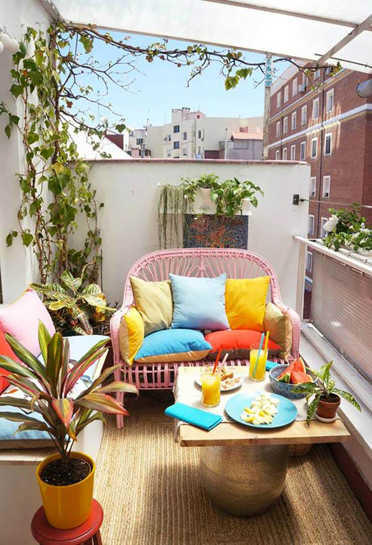 20 idee per arredare un piccolo terrazzo in maniera
