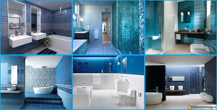 Bagno blu e bianco dal design moderno ecco 20 idee for Elementi bagno