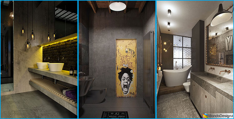 Bagno stile industriale 50 idee di arredo dal design - Arredo interni idee ...