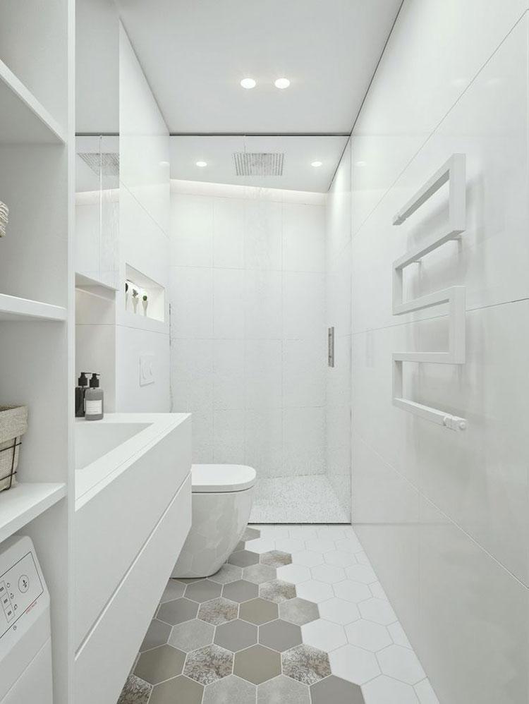 Idee per arredare un bagno bianco moderno n.06