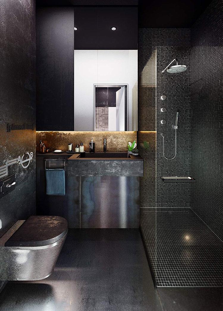 Idee di arredo per un bagno in stile industriale n.01