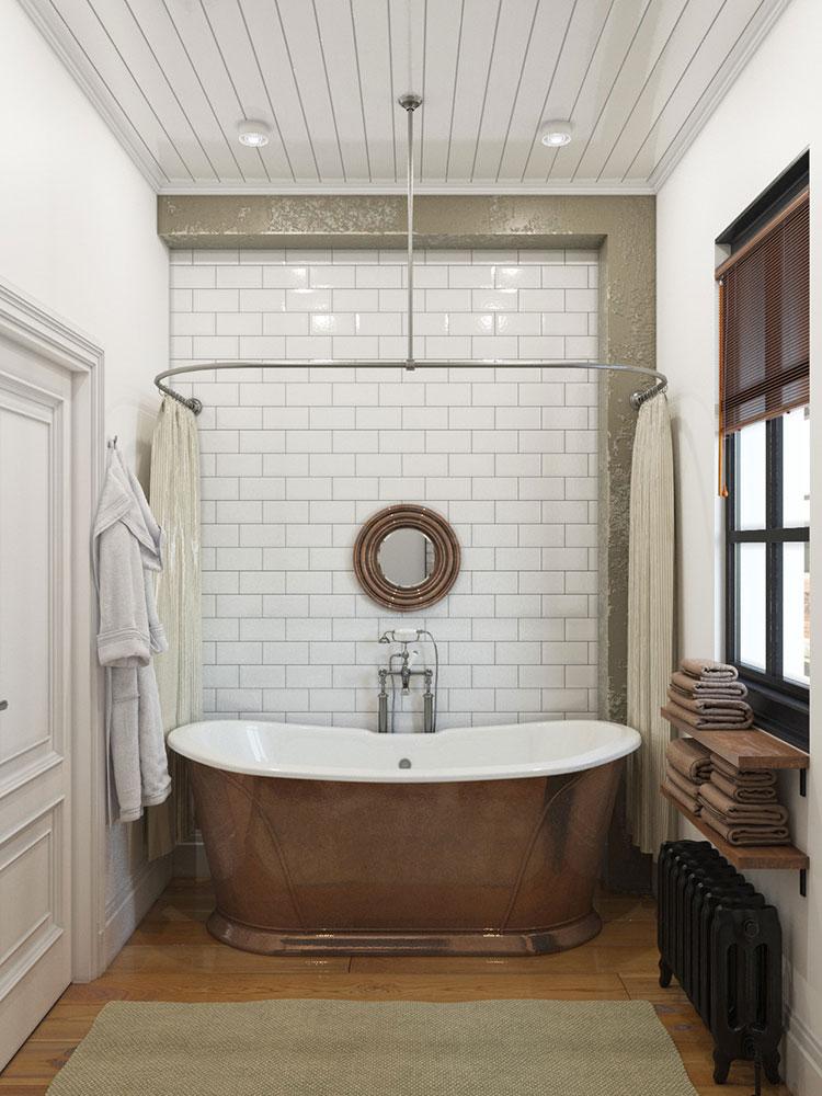 Idee per arredare un bagno vintage n.19