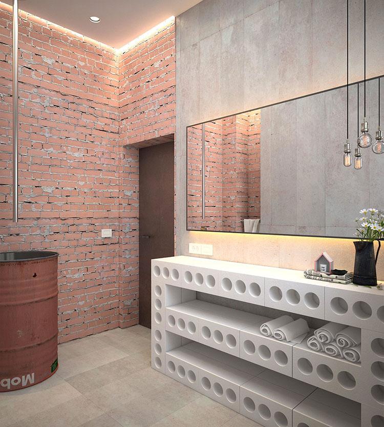 Idee di arredo per un bagno in stile industriale n.04