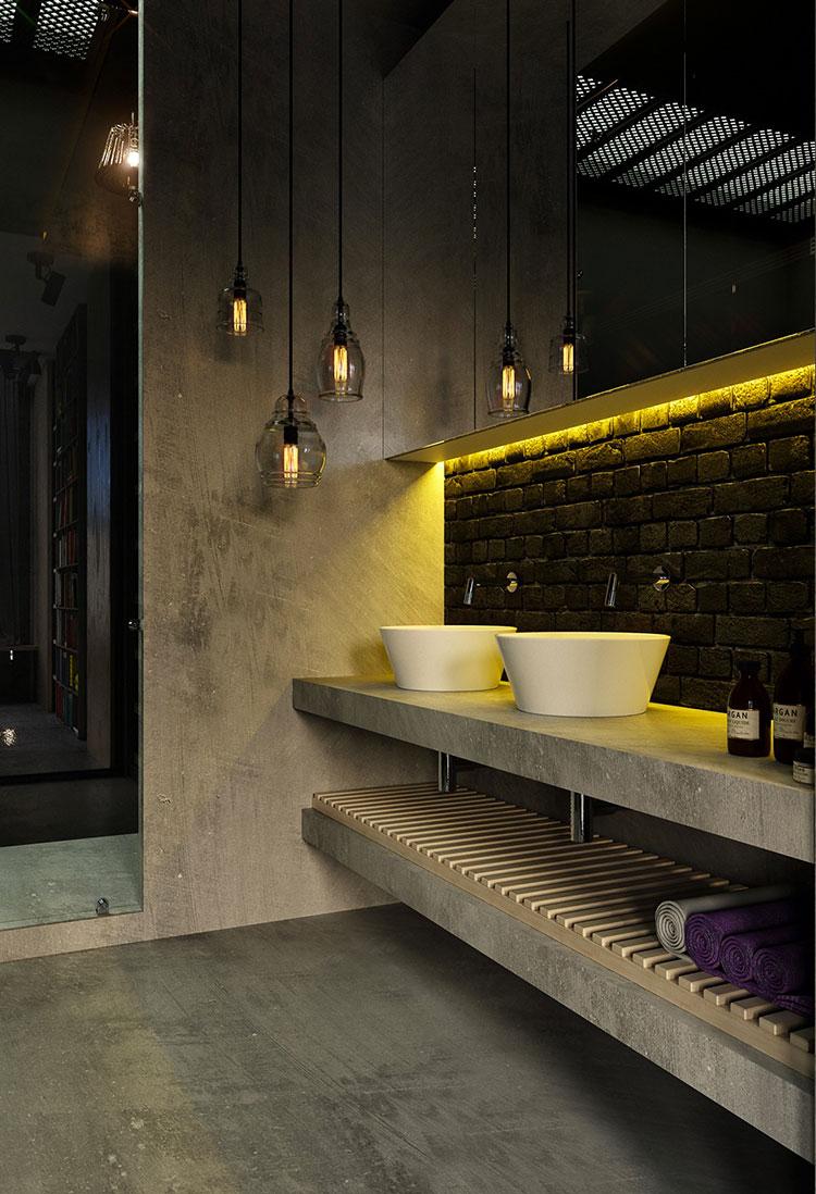 Idee di arredo per un bagno in stile industriale n.05
