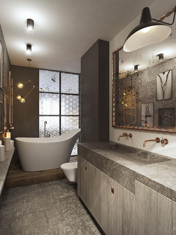 Idee di arredo per un bagno in stile industriale n.07