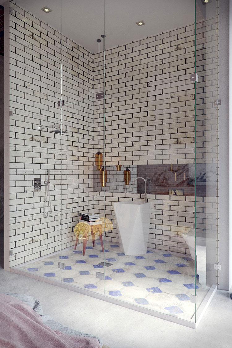 Idee di arredo per un bagno in stile industriale n.09