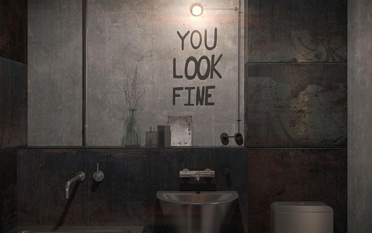 Idee di arredo per un bagno in stile industriale n.11