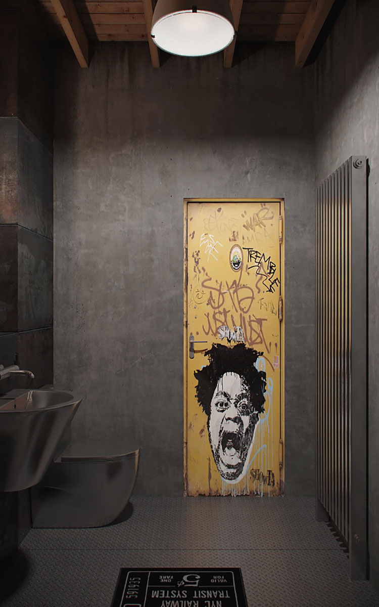 Idee di arredo per un bagno in stile industriale n.13
