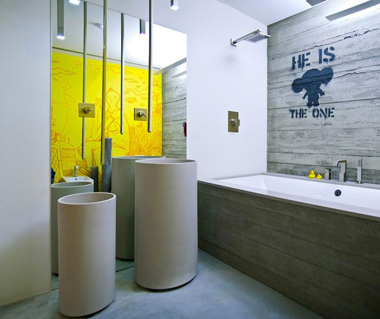 Idee di arredo per un bagno in stile industriale n.14