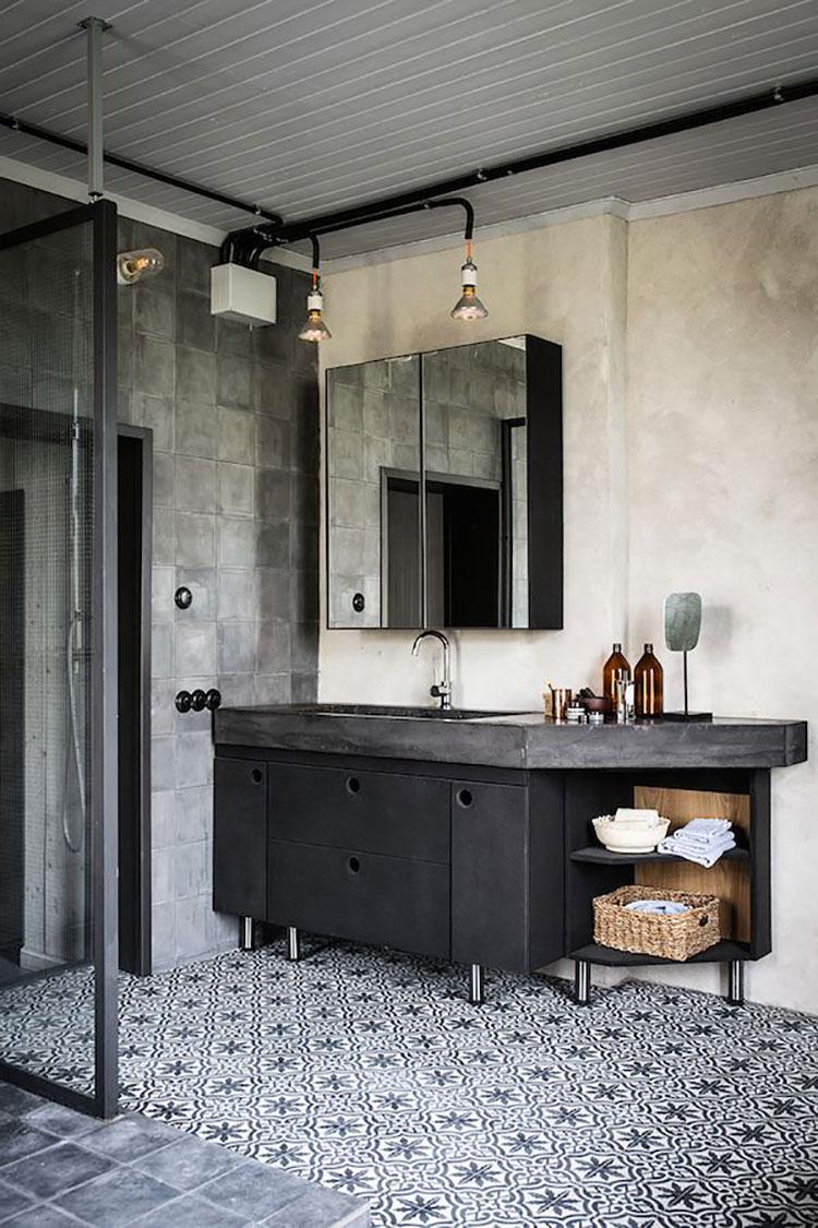Idee di arredo per un bagno in stile industriale n.18
