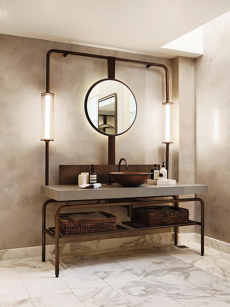 Idee di arredo per un bagno in stile industriale n.19