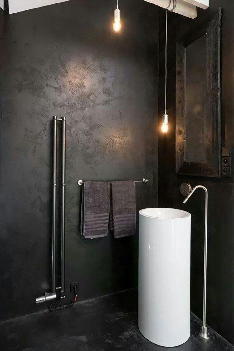 Idee di arredo per un bagno in stile industriale n.20