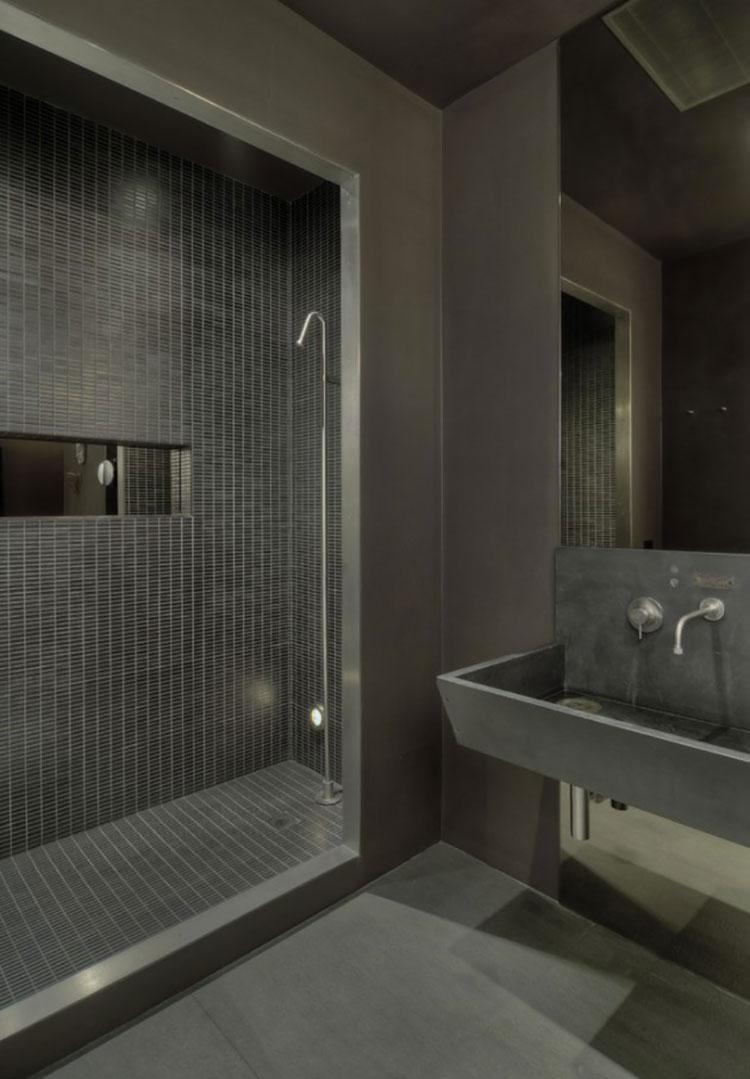 Idee di arredo per un bagno in stile industriale n.21