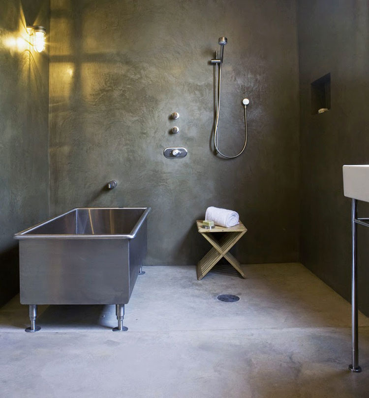 Idee di arredo per un bagno in stile industriale n.23