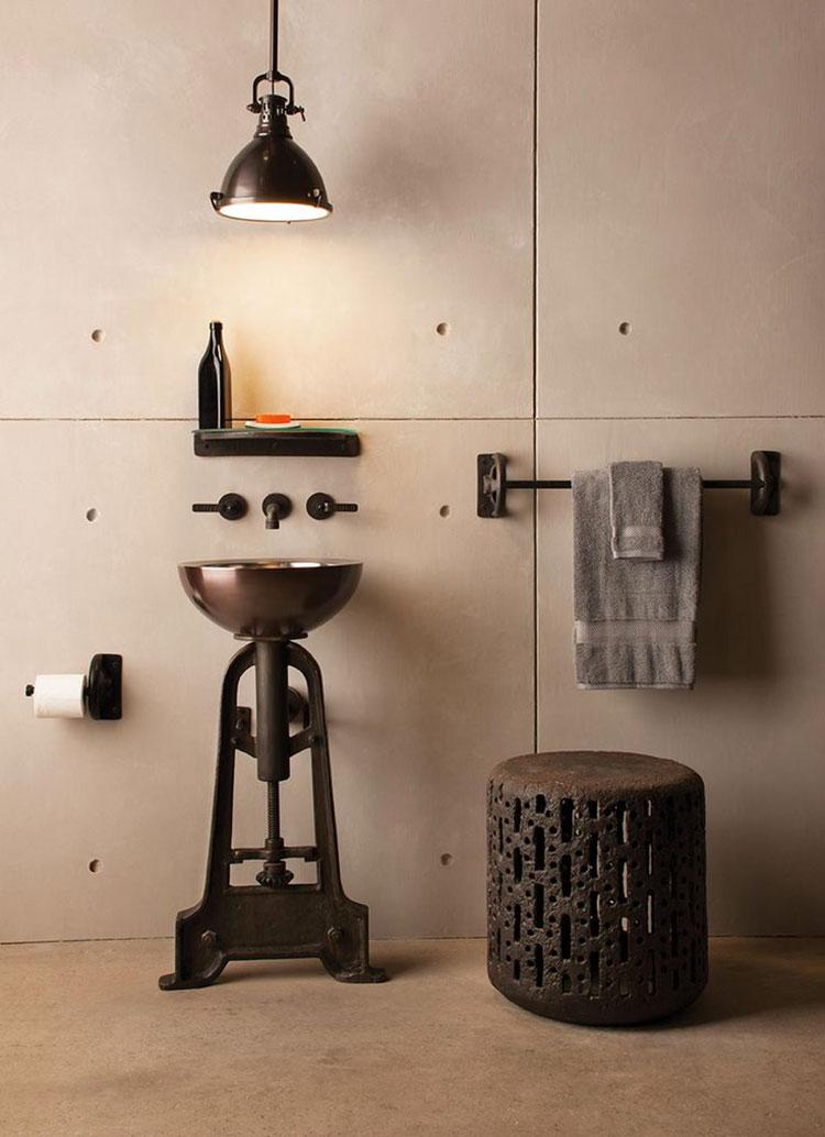 Idee di arredo per un bagno in stile industriale n.24