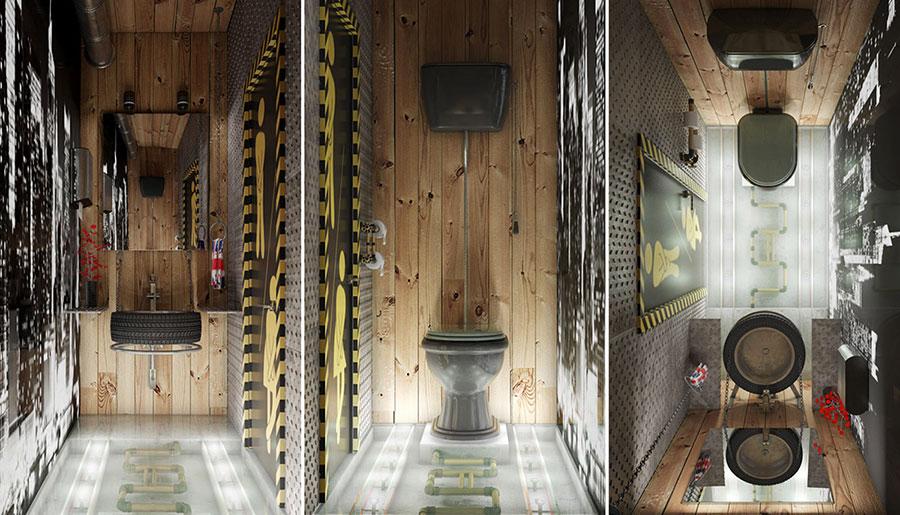 Idee di arredo per un bagno in stile industriale n.26