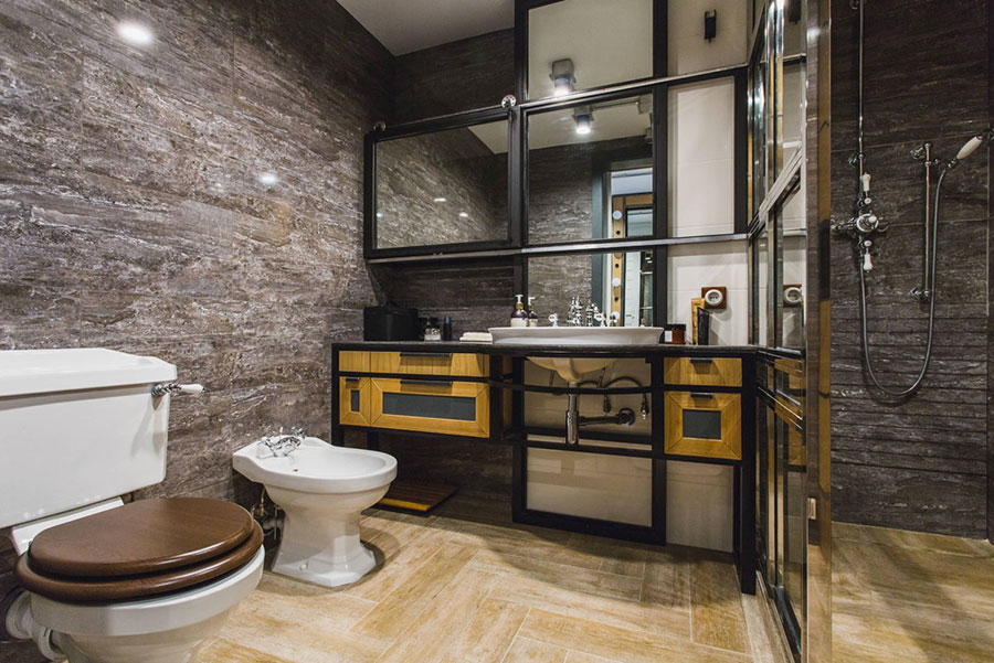 Idee di arredo per un bagno in stile industriale n.29
