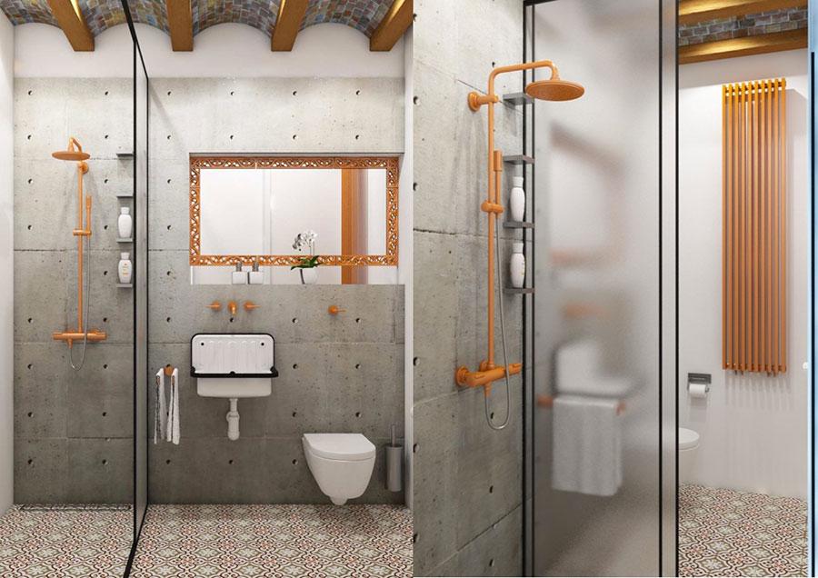 Idee di arredo per un bagno in stile industriale n.30