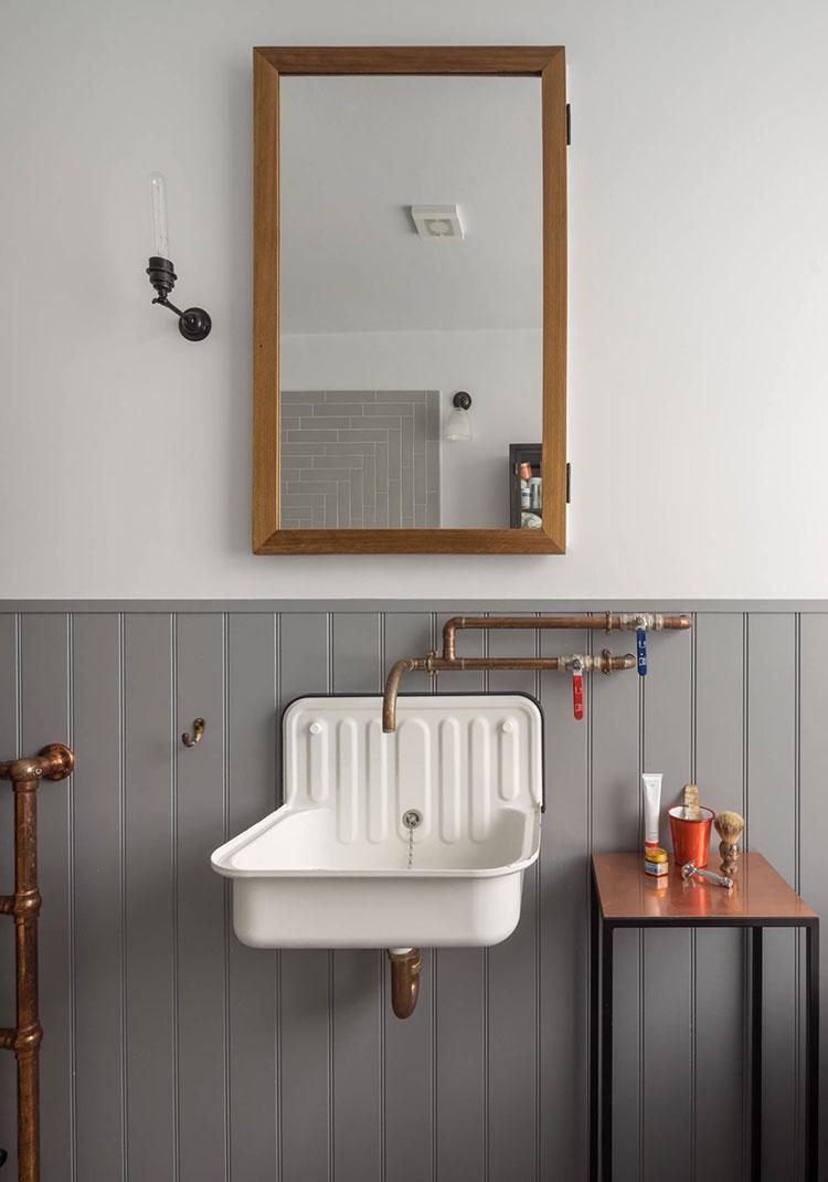 Idee di arredo per un bagno in stile industriale n.32
