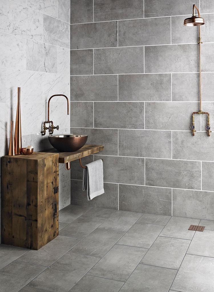 Idee di arredo per un bagno in stile industriale n.33