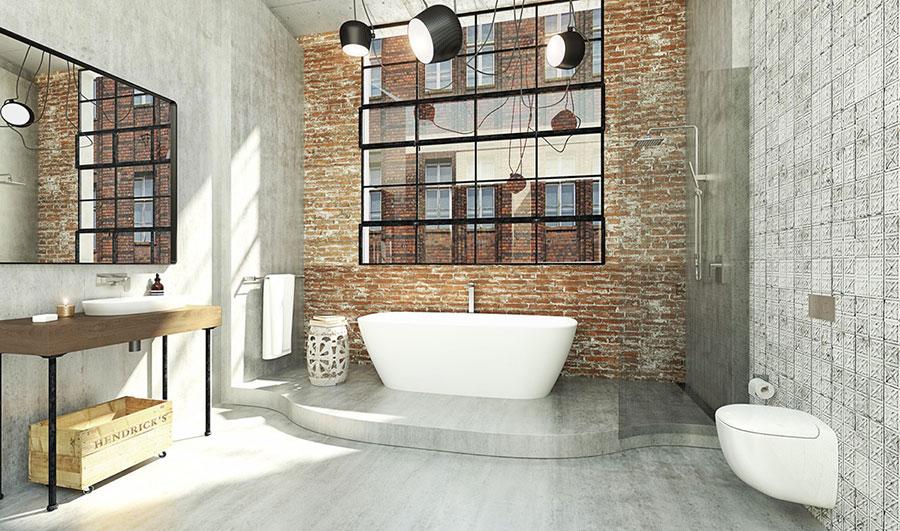 Idee di arredo per un bagno in stile industriale n.36