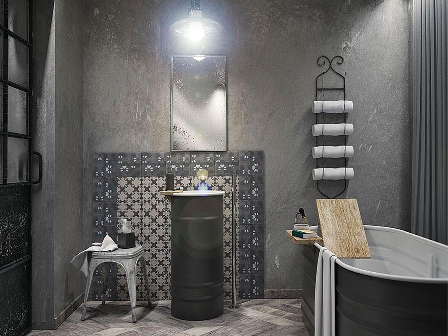 Idee di arredo per un bagno in stile industriale n.40