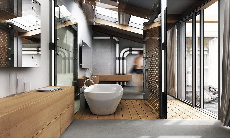 Idee di arredo per un bagno in stile industriale n.44