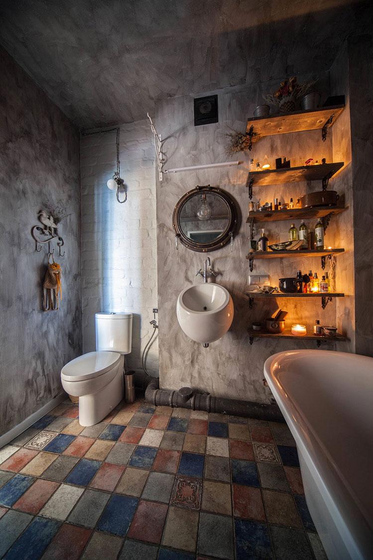 Idee di arredo per un bagno in stile industriale n.45