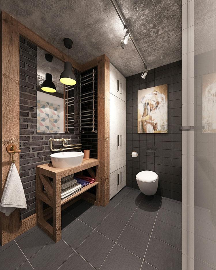 Idee di arredo per un bagno in stile industriale n.49