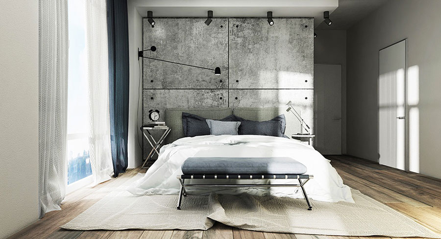 Idee per arredare una camera da letto in stile industriale n.01