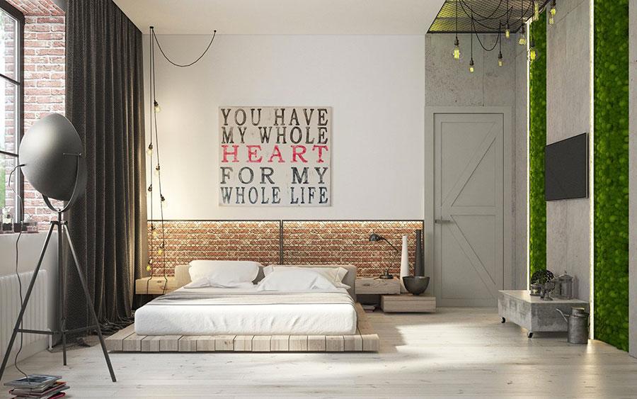 Idee per arredare una camera da letto in stile industriale n.02
