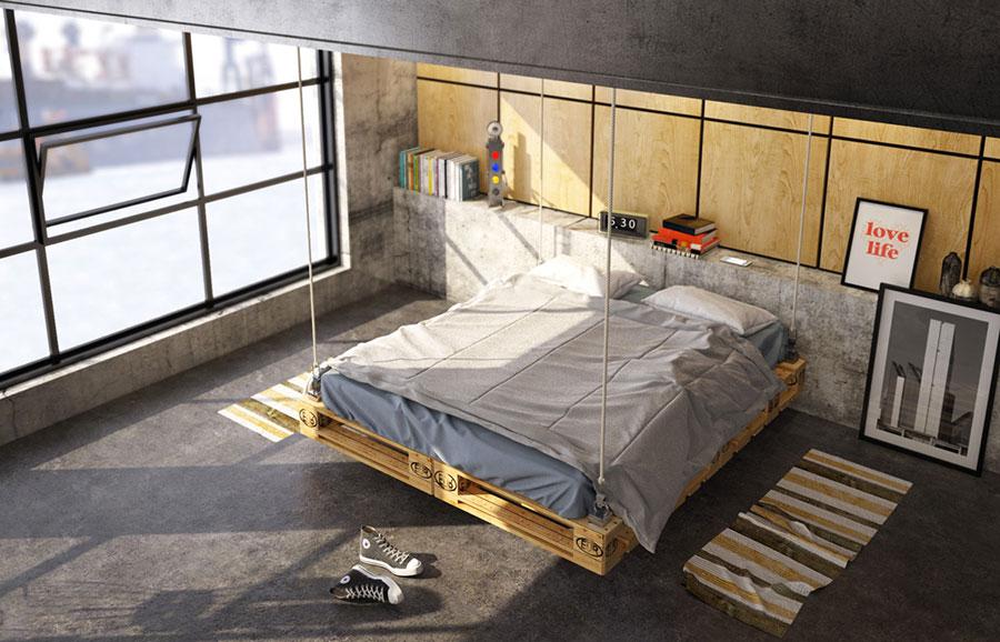 Idee per arredare una camera da letto in stile industriale n.03