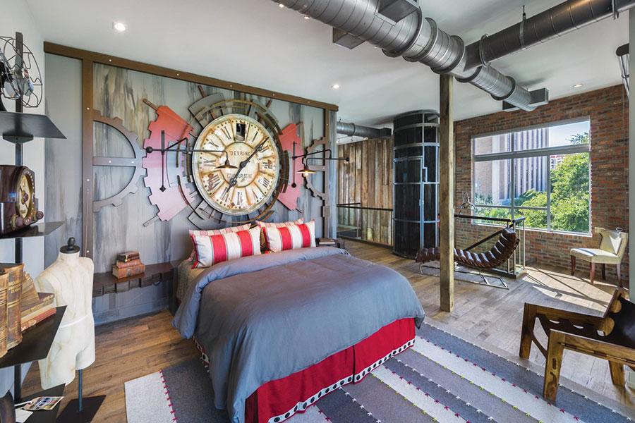 Idee per arredare una camera da letto in stile industriale n.04