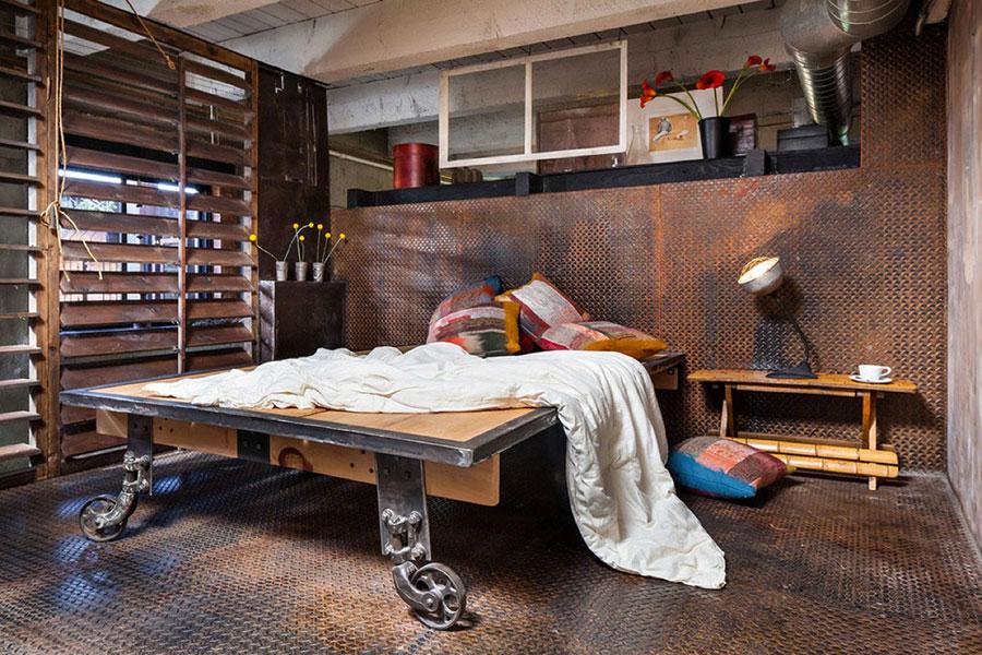 Idee per arredare una camera da letto in stile industriale n.05
